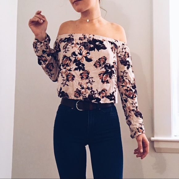 5a6bca42d1c27 Kendall   Kylie Tops - Kendall   Kylie Floral Off the Shoulder Top